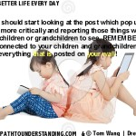 Watch what is on your wall - young girls with tablets
